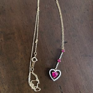 Jewelry - Yellow gold ruby necklace